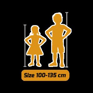 Für Kinder zwischen 100 und 135 cm Körpergröße